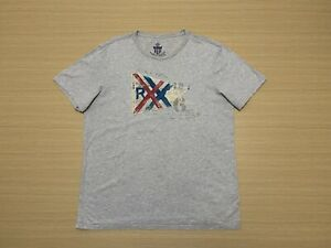 Polo Jeans Company Ralph Lauren T Shirt Mens Large Short Sleeve Top Cotton Grey