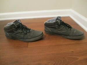Used Worn Size 12 Vans OTW Collection Skateboard Shoes Gray & Charcoal