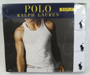 Ralph Lauren Polo 3 pack White Slim Fit Tank T-shirts Tee NWT