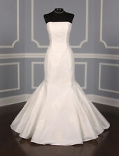 AUTHENTIC St. Pucchi Ava Z164 Wedding Dress Silk White NEW 12 RETURN POLICY