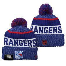 New Era Nhl New York Rangers On field Sideline Beanie Winter Pom Knit Cap Hat