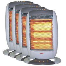NUOVO 4x 1200 W Elettrico Portatile Oscillante Riscaldatore Alogeno 3 regolazioni di calore Maniglia