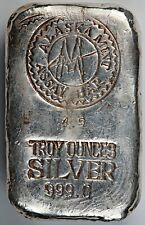 Alaska Mint Assay Anchorage 4.9 oz .999 Fine Silver Poured / Pour Bar / Ingot