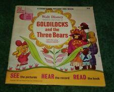 Walt Disney Goldilocks and the Three Bears Book And Record Disneyland