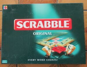 SCRABBLE  by Mattel 2003 - Green on Cream tiles - Complete & VGC