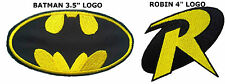 DC Comics (2-Pack) Batman Robin Logos Iron/Sew-On Embroidered Patch US Seller