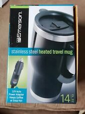 Emerson 14 fl oz. Stainless Steel Heated Travel Mug 12V Auto Power Adapter