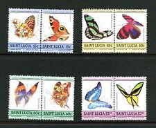 St. Lucia 1985  #731-4   butterflies  pairs  MNH  H723