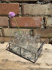 Wire basket with six mini bottles