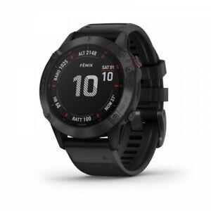 Garmin Fenix 6 Pro Black Multisport GPS Watch with Black Band 010-02158-01