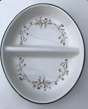 Eternal Beau Johnson Brothers Oval Divided Serving Dish 2 Sections Oven To Table