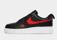 Nike Air Force 1 Mens Trainers Black Red White Sneakers All Sizes Limited Shoes