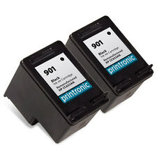 Ink Cartridge for HP OfficeJet J4524 J4624 4500 - HP 901 Black CC653AN 2 Pack
