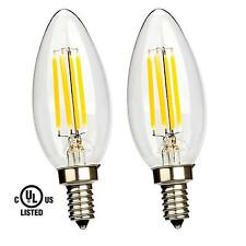 Sunbeam 4W LED E12 Candelabra B11 Light Bulb Vintage Filament 350 Lumens Clear