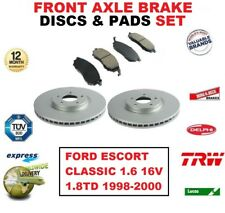 FOR FORD ESCORT CLASSIC 1.6 16V 1.8TD 1998-2000 FRONT BRAKE DISCS + PADS (240mm)