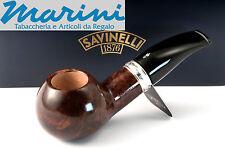 Pipa Pipe pfeife Savinelli Trevi 320 semicurva boccetta scura lucida made italy