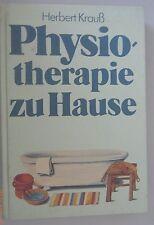 Fisioterapia a casa/Prof. DR. Herbert Krauß 1986 volte libro DDR libro di testo