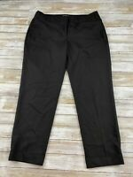 EXPRESS WOMEN SIZE 10 EDITOR BLACK CHINO DRESS PANTS EUC