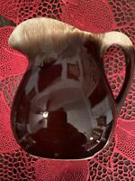 "Vintage McCoy 365 6"" Tall Brown Drip Pottery Pitcher Made in The USA"