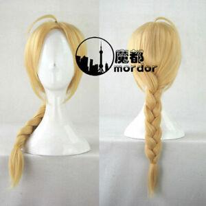 Fullmetal Alchemist Edward Elric's Wigs Long Warm Blonde Cosplay Braid Hair Wigs