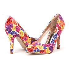 Women's Clubwear Heels in Floral Pattern