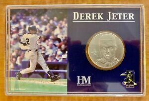 Derek Jeter Hamilton Mint 2001 Solid Nickel Silver Medallion Encased