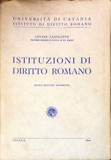 ISTITUZIONI DI DIRITTO ROMANO - CESARE SANFILIPPO - 1964