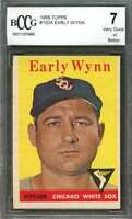 Early Wynn Card 1958 Topps #100A Chicago White Sox BGS BCCG 7
