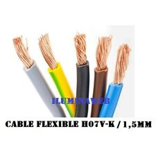 Corte x 10 metros, cable electrico FLEXIBLE 1.5 mm2, H07V-K - CPR