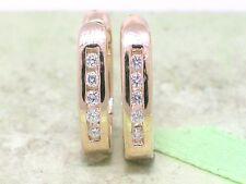 Scharnier Creolen 585 Gelbgold 14Kt Gold 10 Brillanten 0,12ct Wesselton Si