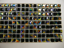 24 swarovski crystal cube beads,6mm jet AB #5601