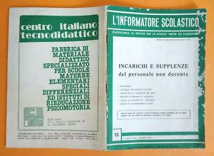Rivista L'INFORMATORE SCOLASTICO 13 1 Aprile XXIV Annata 1981 scuola elemantare