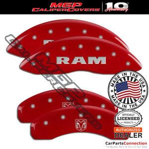 MGP Caliper Brake Cover Red 55001SRMHRD Front Rear For Ram 1500 2018-2019