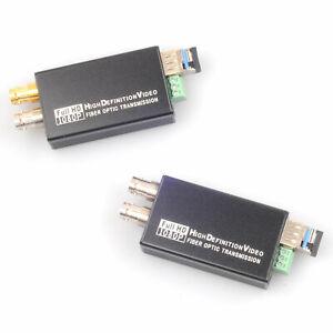 1080P 3G-SDI HD-SDI to LC Fiber Optic Converter 10KM Transmitter Receiver 60Hz