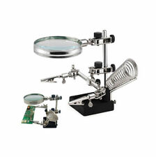 Soldering Clamp Stand Magnifier Glass Clamps Modelling Stand Helping Third Hand