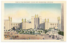 1939 Golden Gate Int'l Expo/GGIE Postcard - Court of the Hemispheres