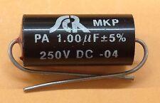 SCR MKP PA 1.00uF 5% 250V Assiale Audio Condensatore 1uf