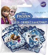 Disney Frozen Fun Pix Cupcake Picks 24pcs Cake Toppers Decorations