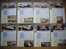 LOTUS FORMULA 1 Grand Prix Auto da Corsa fogli dati Clark Rindt Formula One Racing