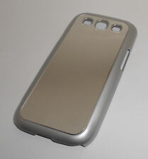 NEW METALLIC SILVER SAMSUNG GALAXY S3 III RIGID PLASTIC CASE SUPER FAST SHIPPING