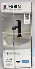 MOEN Genta Single Hole Single-Handle Bathroom Faucet in Matte Black