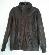Unbranded Leather Funnel Neck Coats & Jackets for Men