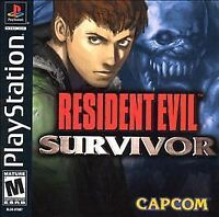 Resident Evil Survivor Sony PlayStation 1, 2000 RARE CLASSIC VIDEO GAME PS1