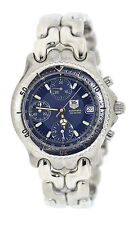 Tag Heuer Link Blue Dial Chronograph Automatic Stainless Steel Watch CG2111