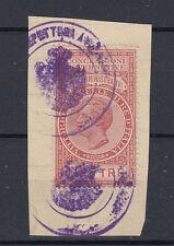 1924 MARCHE DA BOLLO ATTI AMMINISTRATIVI 2 LIRE USATA SU FRAMMENTO