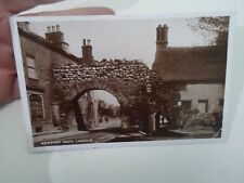 Vintage Real Photo Postcard NEWPORT ARCH, LINCOLN  Franked+Stamped 1927   §A452