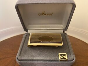 Anson Money Clip Gold Tone Vintage New Old Stock