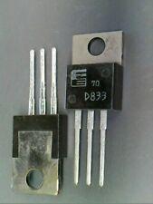 2SD833  D833 NPN Darlington audio power amplifier transistor. Fuji NOS