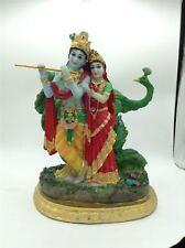 Radha Krishna With Peacock Statue Radha Govind Idol Gift Item
