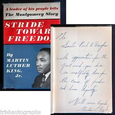 "MARTIN LUTHER KING JR. SIGNED BOOK ""STRIDE TOWARD FREEDOM"" CIVIL RIGHTS MOVEMENT"